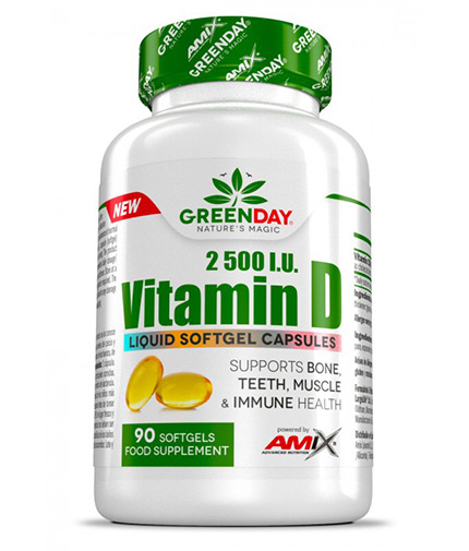 AMIX Vitamin D3 2500 I.U. / 90 Softgels