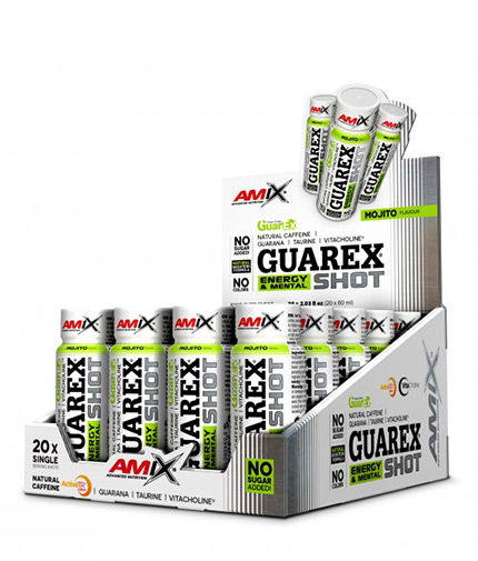 AMIX Guarex Energy & Mental SHOT Box / 20x60ml
