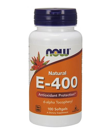 NOW Vitamin E-400 IU D-Alpha / 100 Softgels