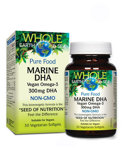 NATURAL FACTORS Marine DHA Vegan omega-3 300mg / 30 Softgels