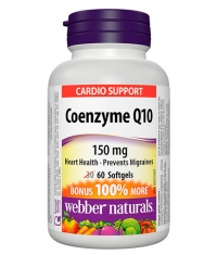 WEBBER NATURALS Coenzyme Q10 150mg / 60 Softgels