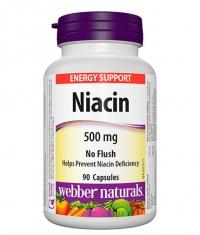 WEBBER NATURALS Niacin 500mg / 90 Caps
