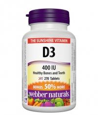 WEBBER NATURALS Vitamin D3 400 IU / 270 Tabs