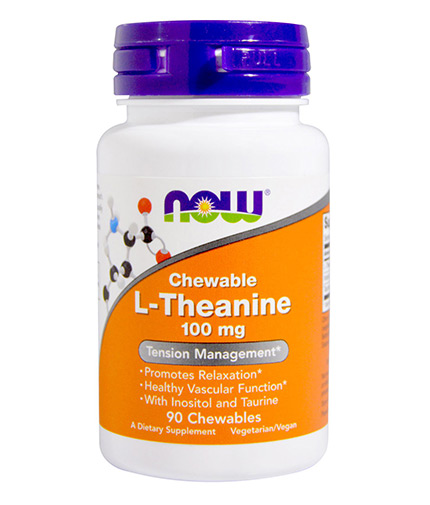 NOW L-Theanine 100mg / 90 Chewables