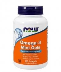 NOW Omega-3 Mini Gels 500mg / 180 Softgels