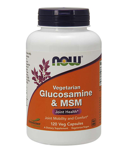 NOW Vegetarian Glucosamine & MSM / 120 Vcaps