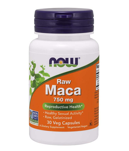 NOW Raw Maca 750mg (6:1 CONC) / 30 Vcaps