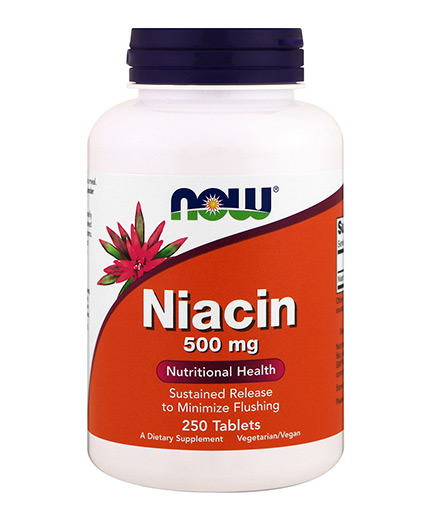 NOW Vitamin B-3 (NIACIN) 500mg / 250 Tabs