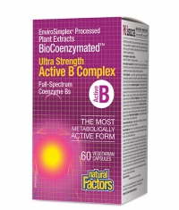 NATURAL FACTORS Active B Complex Ultra Strength BioCoenzymated / 60 Vcaps