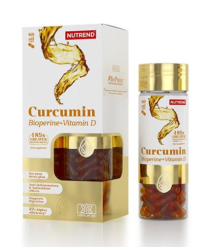 NUTREND Curcumin + Bioperine + Vitamin D / 60 Caps