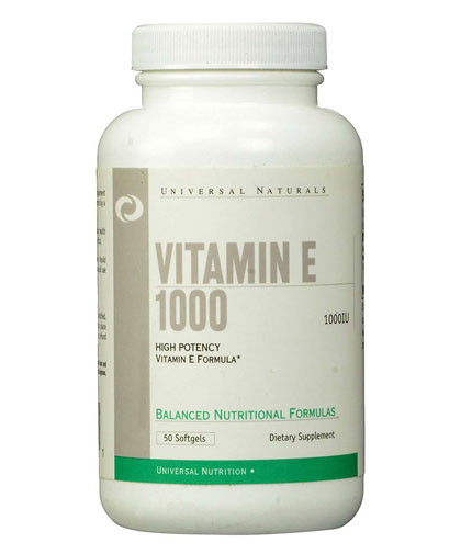 UNIVERSAL Vitamin E 1000 IU / 50 Softgels