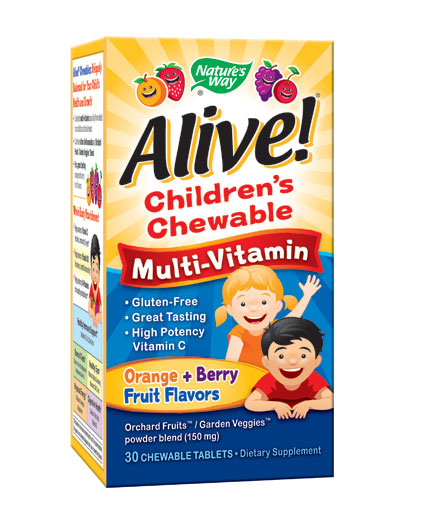 NATURES WAY Alive! Children's Multi-Vitamin Chewable / 30 Chews