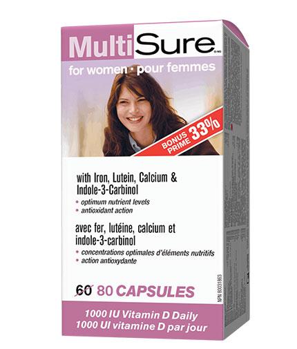 WEBBER NATURALS MultiSure for Women / 80 Caps