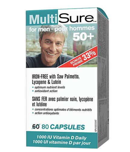 WEBBER NATURALS MultiSure for Men 50+ / 80 Caps