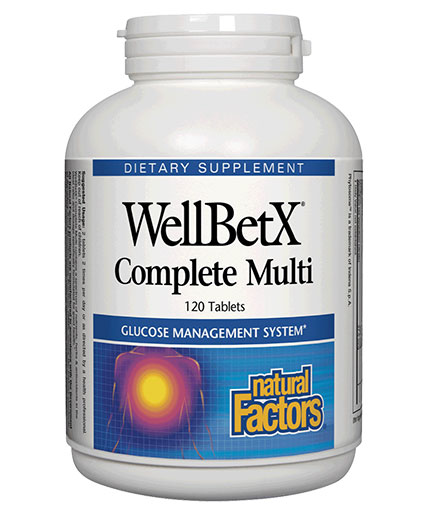 NATURAL FACTORS WellBetX Complete Multi Diabetic  / 120 Tabs