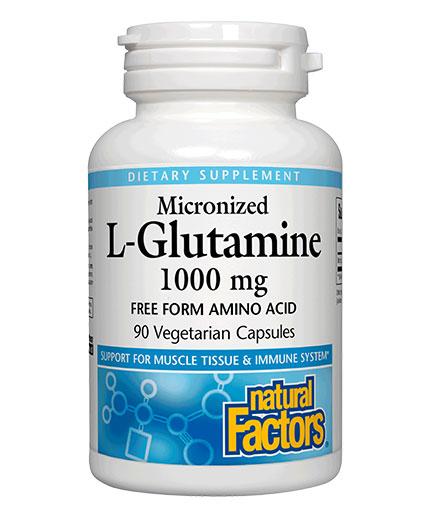 NATURAL FACTORS Micronized L-Glutamine / 90Vcaps