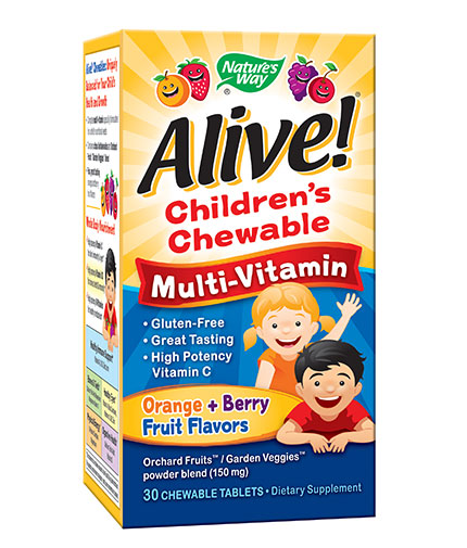 NATURES WAY Alive! Children's Chewable Multi-Vitamins / 30 Chews