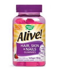 NATURES WAY Alive! Hair, Skin & Nails / 60 Gummies