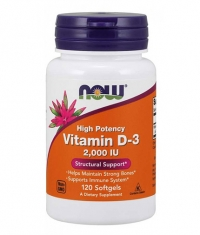 NOW Vitamin D-3 / 2000 IU / 120 Softgels