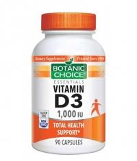 BOTANIC CHOICE Vitamin D3 1000 IU / 90 Caps