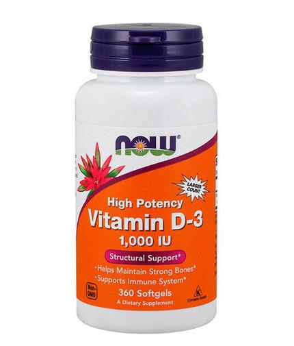 NOW Vitamin D-3 / 1000 IU / 360 Softgels