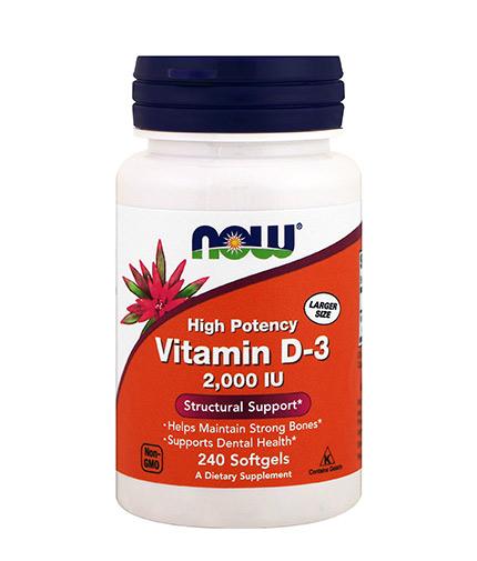 NOW Vitamin D-3 / 2000 IU / 240 Softgels