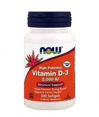 NOW Vitamin D-3 / 2000 IU / 240 Softgels