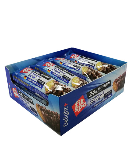 FIT SPO Crunchy Delight plus Protein Bar Box / 12x65g