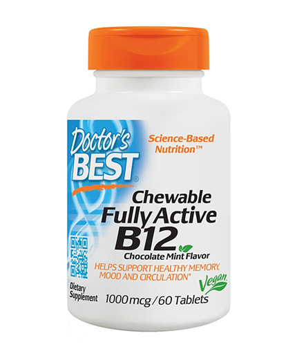 DOCTOR'S BEST Chewable Fully Active Vitamin B12 1000mcg / 60 Chews