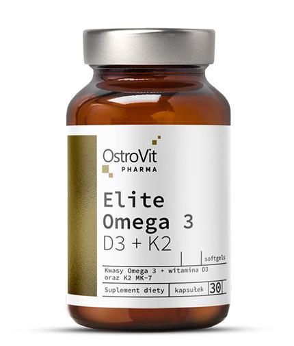OSTROVIT PHARMA Elite Omega 3 D3 + K2 1000mg / 30 Caps