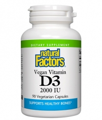 NATURAL FACTORS Vegan Vitamin D3 2000 IU / 90 Vcaps