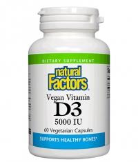 NATURAL FACTORS Vegan Vitamin D3 5000 IU / 60 Vcaps