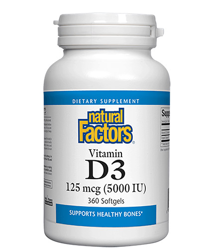 NATURAL FACTORS Vitamin D3 5000 / 360 Softgels