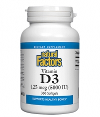 NATURAL FACTORS Vitamin D3 5000 / 360 Softgels