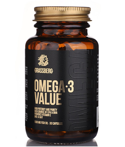 GRASSBERG Omega-3 Value 1000mg / 30 Softgels