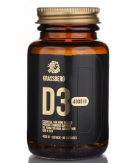 GRASSBERG Vitamin D3 4000 IU / 90 Softgels