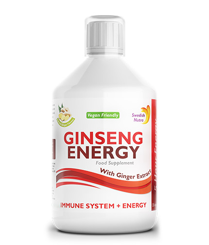 SWEDISH NUTRA Ginseng for fast energy 2000mg - with ginger extract / 500ml
