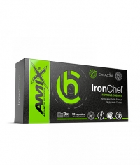 AMIX ChelaZone® IronChel® Iron / Ferrous/ Bisglycinate Chelate / 90 Vcaps