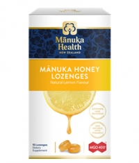 MANUKA HEALTH MGO™400+ Manuka Honey Lozenges with Lemon / 15 Lozenges