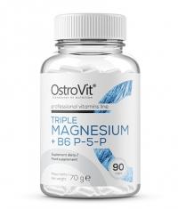 OSTROVIT PHARMA Triple Magnesium + B6 P-5-P / 90 Caps