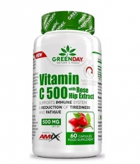 AMIX GreenDay Vitamin C 500 mg with RoseHip / 60 Caps