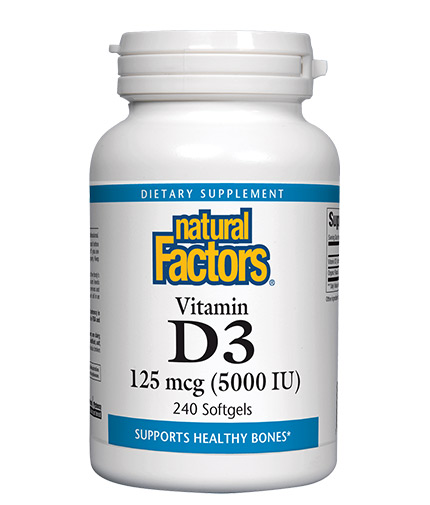 NATURAL FACTORS Vitamin D3 5000 / 240 Softgels