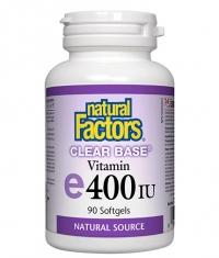 NATURAL FACTORS Clear Base® Vitamin E 400 IU / 90 Softgels