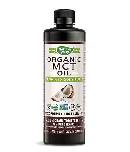 NATURES WAY MCT Oil Organic from Coconut Oil / 480 ml