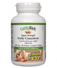 NATURAL FACTORS GarlicRich Super Strength Garlic Concentrate 500 mg / 90 Softgels