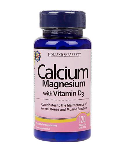 HOLLAND AND BARRETT Calcium Magnesium with Vitamin D3 / 120 Caps