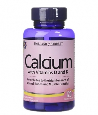 HOLLAND AND BARRETT Calcium with Vitamins D and K / 120 Tabs