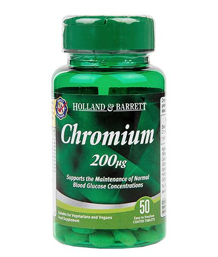 HOLLAND AND BARRETT Chromium 200 mcg / 50 Tabs