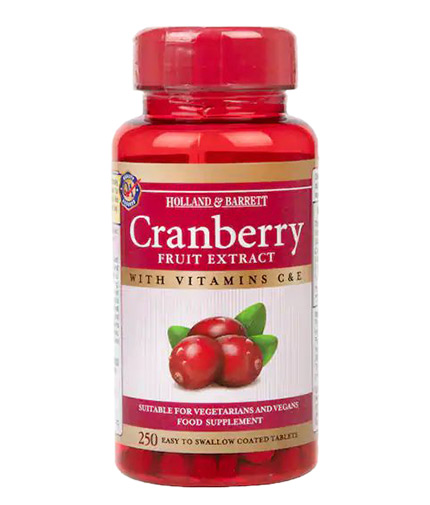 HOLLAND AND BARRETT Cranberry Fruit Extract 255 mg / 250 Tabs