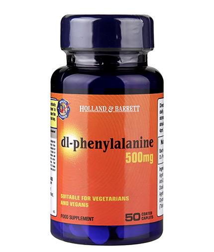 HOLLAND AND BARRETT DL-Phenylalanine / DLPA 500 mg / 50 Caps